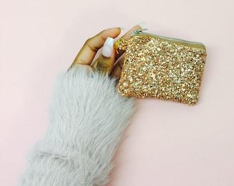Gold Glitter Coin Purse