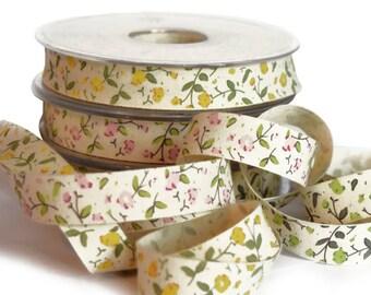 Vintage Flower Printed Ribbon