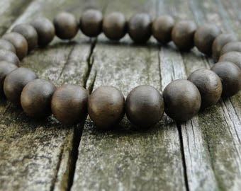Wood Beaded Bracelet | Gemstone Bracelet | Mens Bracelet | Womens Bracelet | Mala Bracelet | Stacking Bracelet | Mens Wood Bracelet