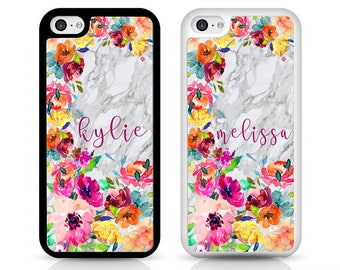 Marble Flower Personalised Phone Cases for iPhone and Samsung