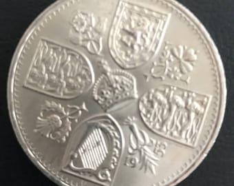 1953 Commemorative 5 Shilling Coin: Coronation of Queen Elizabeth II