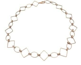 Copper Geometric Necklace
