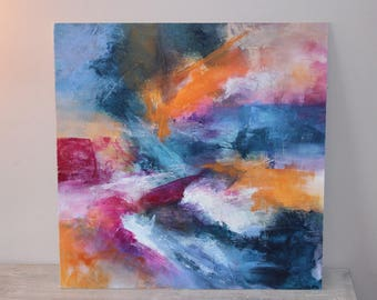 The strap - contemporary abstract painting