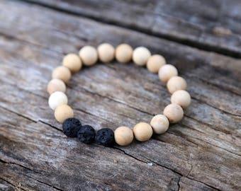Diffuser bracelet with lava stones