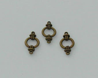 1 connector circle antique brass - Ref: 1000 CB