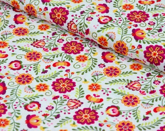 Floral Fabric by the Yard, Cotton Fabric by the Yard Cotton Quilting Fabric Floral Quilt Fabric Riley Blake Fabric 100% Cotton Fabric