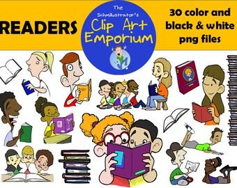 Readers Clip Art