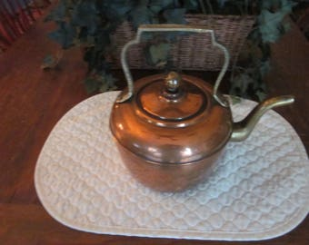 Antique Copper & Brass Tea Pot
