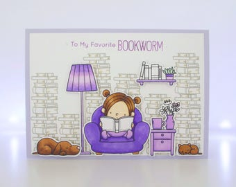 Handmade Card - To My Favourite Bookworm - MFT Our Story