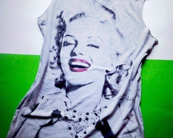 Marylin Monroe Print Vintage T-Shir 1985 from Flash Back Oldschool Size 10 38
