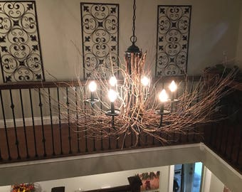 Rustic Twig & Branch Chandelier - Ready to Connect