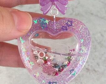 Heart shaker charm
