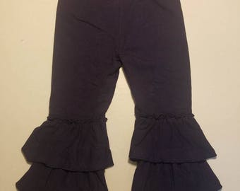 Navy Blue triple layer ruffle pant