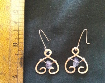 Amyah inspired Handmade Hammered Earrings