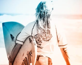 Surfer girl art