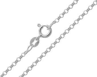 925 Sterling Silver Belcher Rolo 2mm Chain Necklace 14 16 18 20 22 24 26 28 30 inches