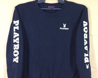 Playboy Big Logo Spell Out Women Sweatshirt Medium Size