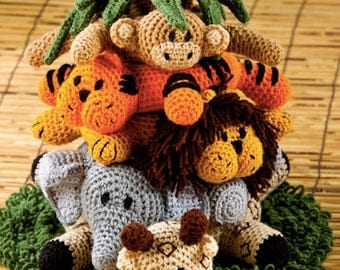 Cute Crochet Jungle Ring Toss, Gifts, Toys, Soft Toys, Safe Toys, Jungle