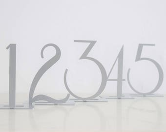 Silver Contemporary Metal Table Number Sets