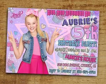 Jojo Siwa Birthday Invitation, Jojo Siwa Invitation, Digital-Printable Jojo Siwa Birthday Party Invitation, Jojo Siwa Invite, Jojo Siwa Card