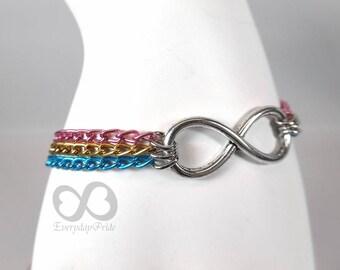 Pan Pride Chain Bracelet with Infinity Symbol Charm