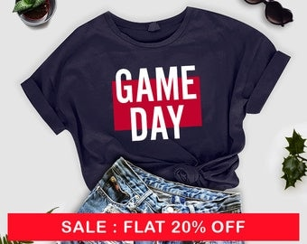 Game Day, Football Shirt, Womens Shirt, Game Day Womens Shirt, Game Day T-shirt, Game Day Shirt, Spirit Shirt, Sports Shirt
