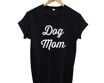 Dog Mom Tee Shirt Femme Funny Punk T Shirt Women Fashion Letters Tops Hip Hop Tumblr boggler Girls T-Shirt Black White