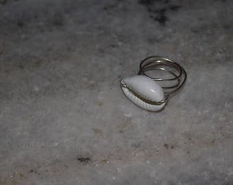 Cowrie Shell Ring, Size 10