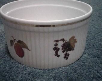 Vintage Royal Worcester Evesham 7u201d Soufflé Porcelain Oven To Table Ware