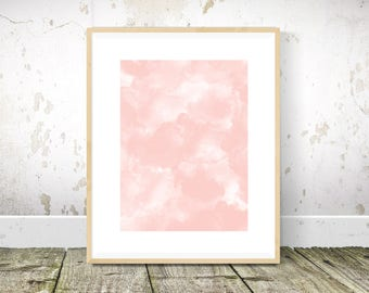 Smoke Print, Pink Wall Art, Blush Pink Wall Art, Abstract Art, Abstract Print, Abstract Painting, Printable Wall Art