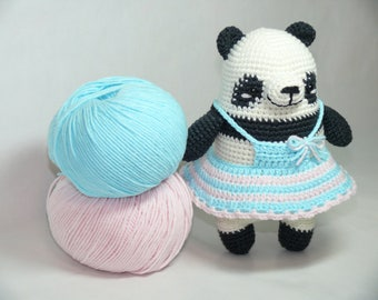 Knitted panda pica pau/knitted toys/knit toy/pica pau/knit toys/amigurumi/amigurumi animals/toy panda/knitted panda/crochet panda/panda/bear