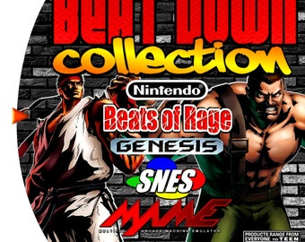 Beat Down Collection Custom Sega Dreamcast Game