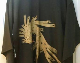 Vintage Hand painted/embroidered  Silk Kimono