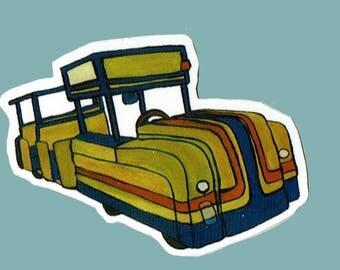 Watch the Tram Car Vinyl Sticker