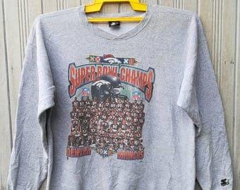 Denver Broncos NFL Super Bowl Champs 98 Sweatshirt Size XL tag Starter