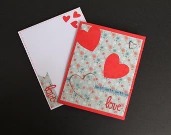 Saint Valentine way scrapbooking card