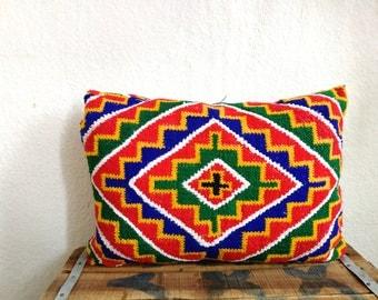 Vintage moroccan pillow cover, colourful,azilal,sahara african design ,unique design