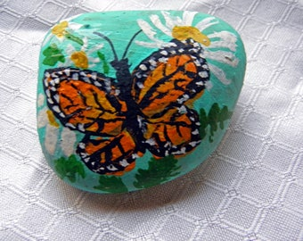Painted Butterly on Rock