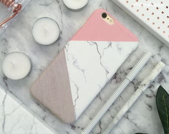 Marble iPhone Case iPhone X Case iPhone 8 Case iPhone 8 Plus Case iPhone 7 Case iPhone 7 Plus Case iPhone 6S Case iPhone 6S Plus Pink Grey