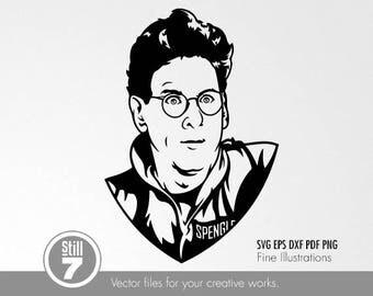 Egon Spengler Ghostbusters svg eps dxf pdf png