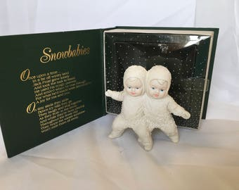 Snowbabies department 56 Best Of Friends. Porcelain figures
