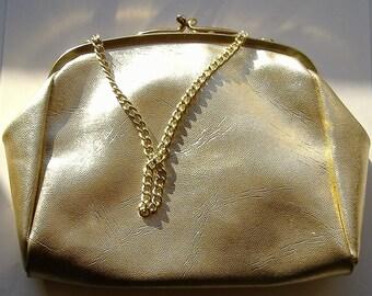 1950S GOLD EVENING BAG