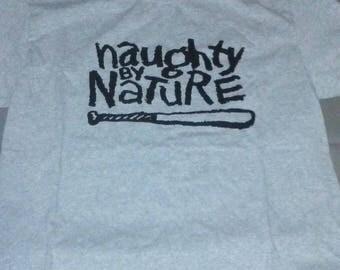 Gray Naughty by Nature tshirt