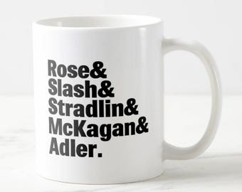Band Lineup Mug - Guns N' Roses - Guns N' Roses Mug - Music Mug - Gift for Her - Gift for Him - Birthday Gift
