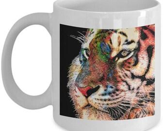 Colorful Tiger coffee coffee mug