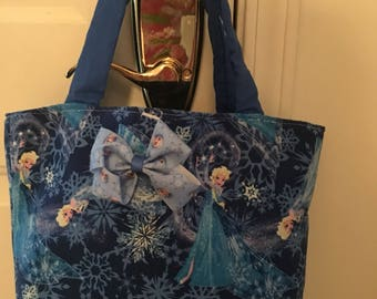 Frozen tote/purse with Beautiful Fabric