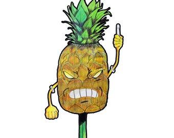 Pineapple-Apple Pen - Stickers & Prints