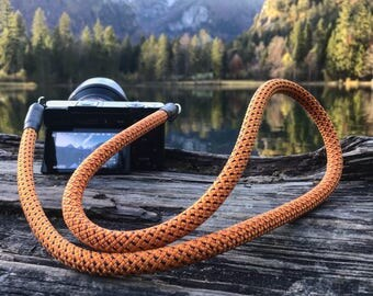 Hand-made camera strap for DSLR flame-shoulder strap-strap-camera strap-Camera Rope-Sony Olympus-LIEBLINGSSTRAP-Worldwide