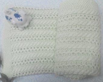 Knitted children's blanket blanket, plaid for the child Вязанный детский плед покрывало,плед для ребенка