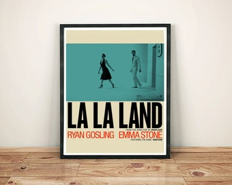 La La Land Movie Poster- La La Land Print- Lala Land Poster- Lala land print- movie poster